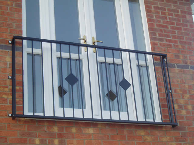 Iron balconies nottingham stainless steel and glass for French balcony